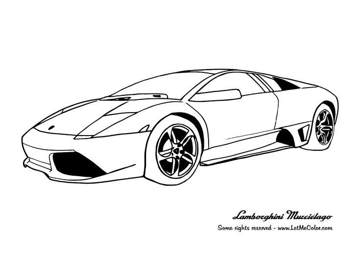 Free coloring page Lamborghini Murciélago LP640