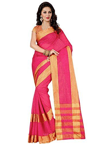 Trendz Cotton Silk Saree with Blouse(TZ_Kumkum_Pink) Check more at http://www.indian-shopping.in/product/trendz-cotton-silk-saree-with-blousetz_kumkum_pink/
