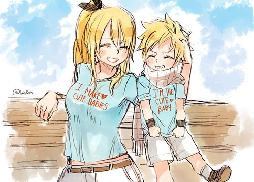 This is so adorable natsu x lucy cute baby - Fairy tail natsu x lucy ...