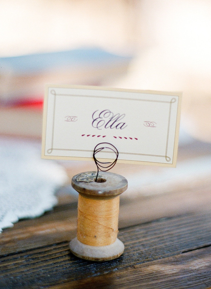 spool place cards for crafty ones 241