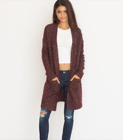 Slouchy Open Cardigan