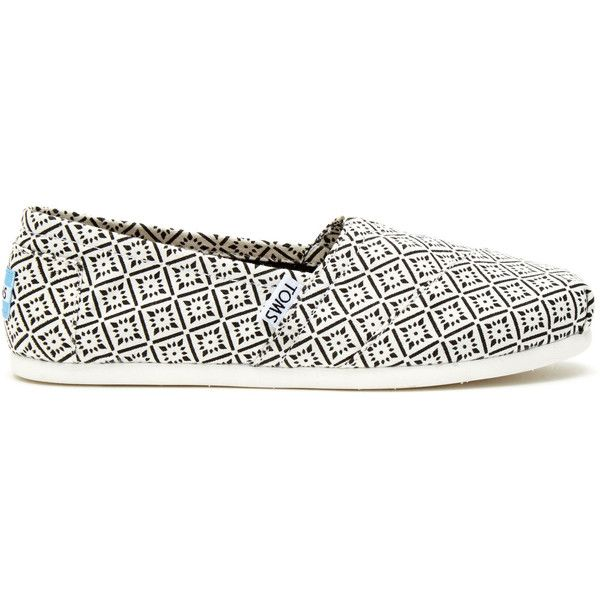 White Black Canvas Vintage Tile Women's Classics ($55) ❤ liked on Polyvore featuring shoes, black and white shoes, vintage footwear, canvas footwear, canvas shoes and vintage shoes