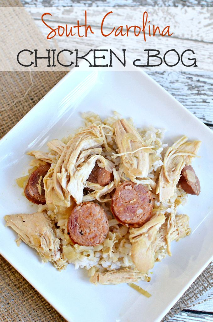 South Carolina Chicken Bog recipe made with White Rice - quick and easy weeknight meal idea! Add this to your dinner recipes!