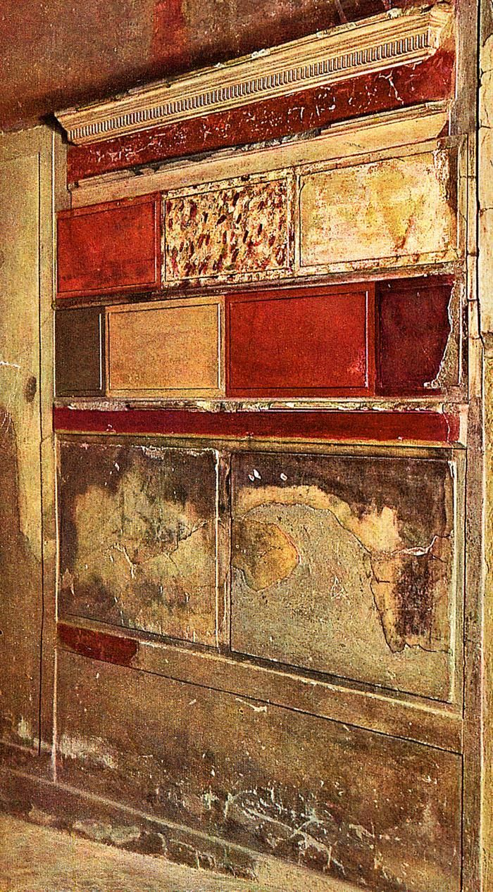 Wk 3: First style wall painting (Samnite House, Herculaneum)