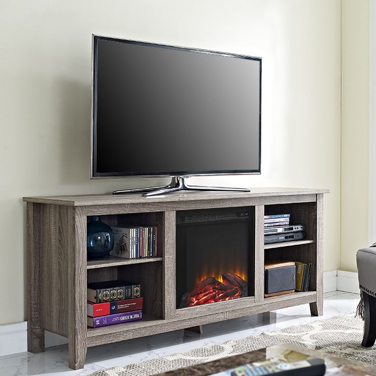 Lorraine TV Stand for TVs up to 60 inches | Fireplace tv ...
