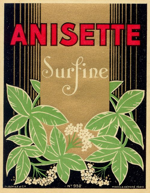 anisette, etiqueta vintage
