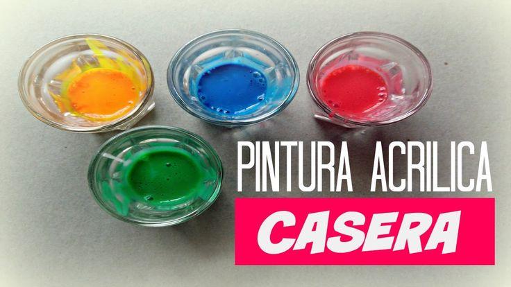 PINTURA ACRILICA CASERA - HAZ TUS PROPIAS PINTURAS ACRILICAS!