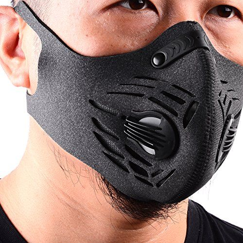 BASE CAMP Fitness Dust Mask with Earloop Adjustable Velcro and Activated Carbon Filter For Sport Training House Cleaning Gardening (Gray) #BASE #CAMP #Fitness #Dust #Mask #with #Earloop #Adjustable #Velcro #Activated #Carbon #Filter #Sport #Training #House #Cleaning #Gardening #(Gray)