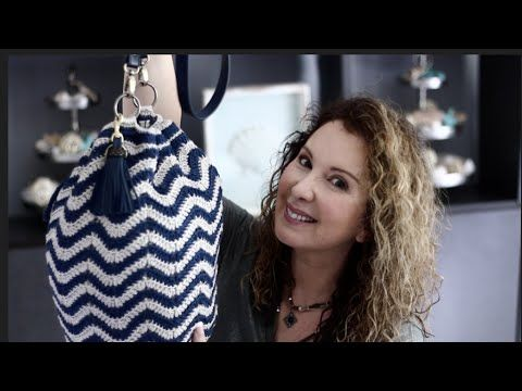 Stylish Crochet Chevron style Hand Bag - YouTube