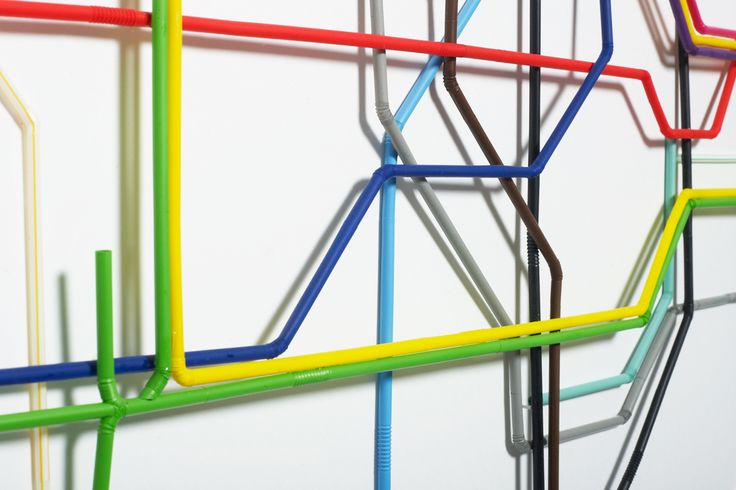 Tube Map  Zone One of the London Underground map made from drinking straws. Photos: Jean-luc Brouard  By Kyle Bean