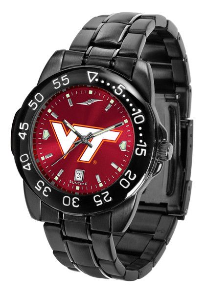 Virginia Tech Hokies Fantom Sport Men Watch With Orange AnoChrome Dial