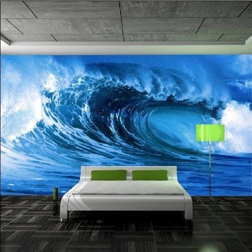 ocean mural for the bedroom