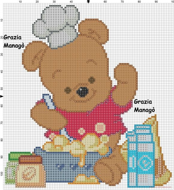 Winnie the pooh che cucina click to view schemi punto for Winnie the pooh punto croce schemi