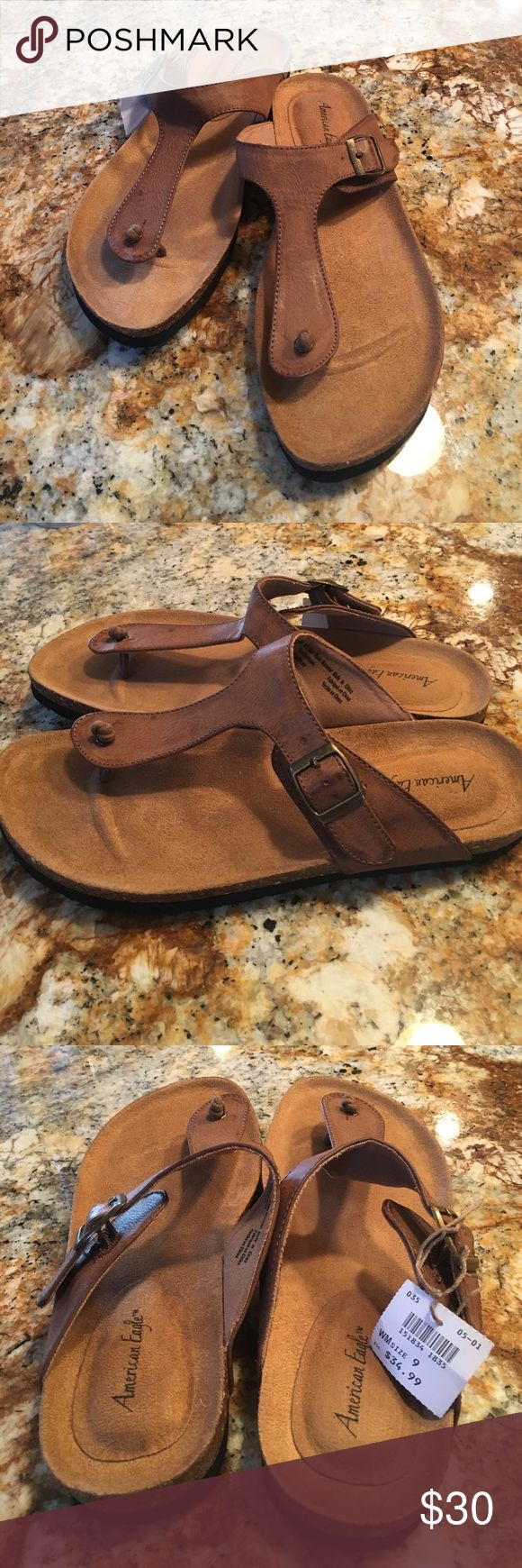 American Eagle NEW Sandals American Eagle NEW brown comfy sandals.  All man made very soft materials. American Eagle by Payless Shoes Sandals
