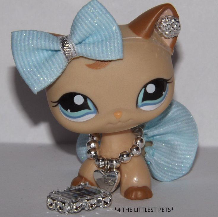 Littlest Pet Shop Clothes Lps accessories custom skirt bow *CAT NOT INCLUDED* by 4thelittlestpets on Etsy