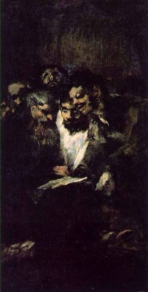 Francisco Goya - Hommes lisant