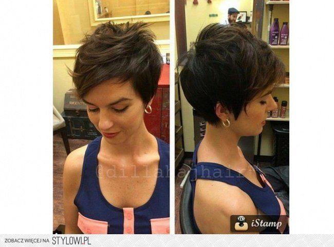 Krótkie fryzury dla kobiet 40+: z grzywką, pixie cut. T… na Stylowi.pl