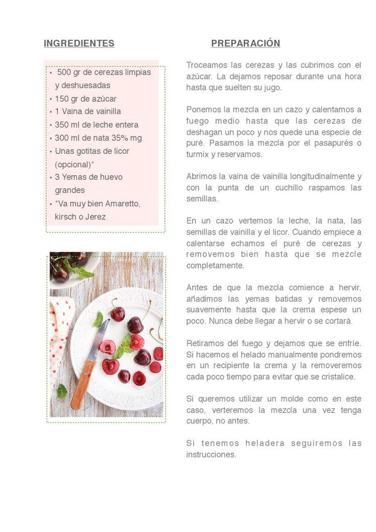 ISSUU - WHOLE KITCHEN Magazine Nº 9 by Silvia Palma Garcia.                Helado de cerezas