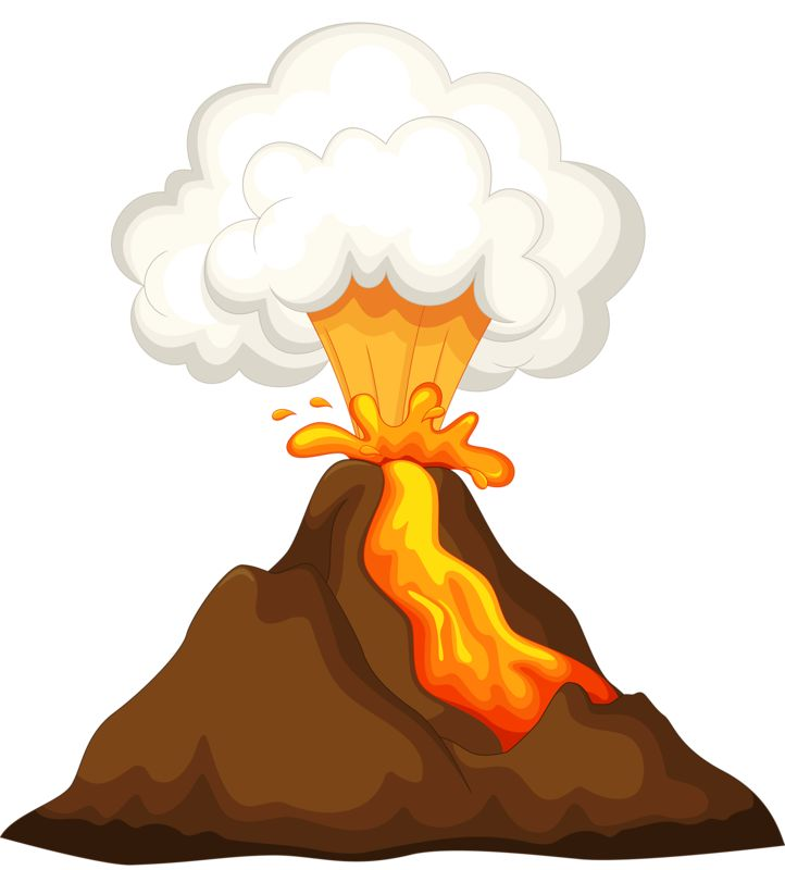 Volcano Clipart on Alphabet Learning Worksheets