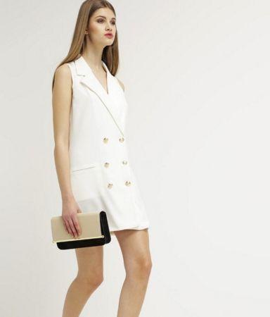Missguided Sukienka letnia żakiet bez rękawów white
