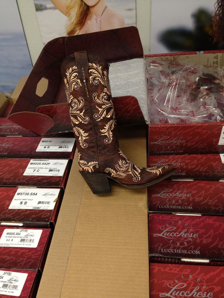 Judy Trammell:  Beautiful boots for our style show in Cozumel.  Thanks @lucchesebootco