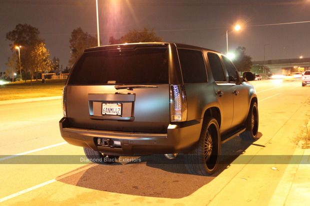 GMC Yukon Denali Wrapped in Matte Black | Diamond Black ...