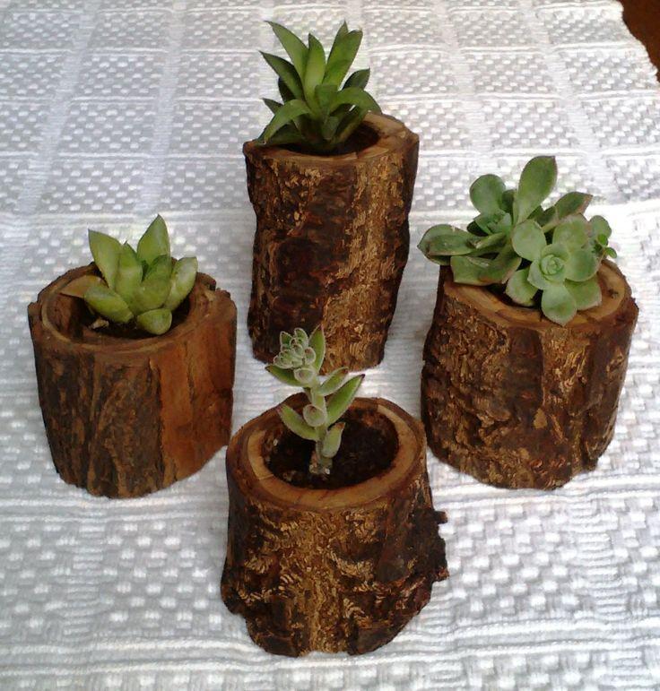 mejores 12 imágenes de troncos en pinterest | troncos, jardineras