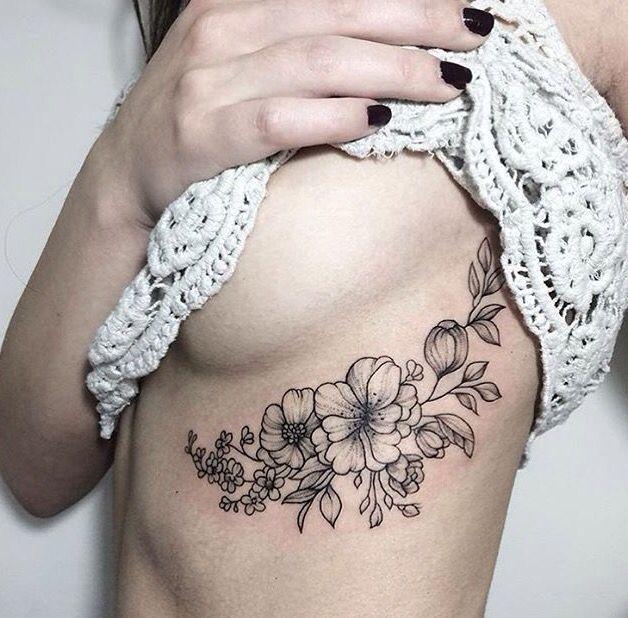 Bild Ergebnis für Floral Tattoo Boob