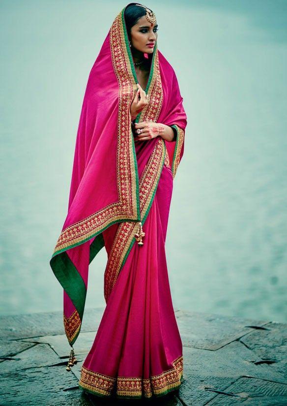 Luring Rani #Pink #Saree @ http://www.indiandesignershop.com/product/luring-rani-pink-saree/