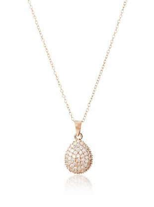Montage Jewelry 14K Rose Gold-Plated Crystal Pendant Necklace