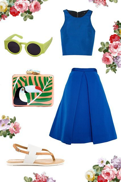 What To Wear To ANY Outdoor Wedding #refinery29 http://www.refinery29.com/outdoor-wedding-outfits#slide-4 Beach Ceremonies Going to a destination wedding somewhere warm? Hit the venue, er, beach in a vibrant matching set and sand-friendly shoes. But, since this is still a wedding, fasten on a pair of fancy-pants shades to add some major style to your tropical getup....