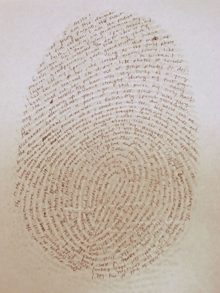 Creative Writing Day 10: About Me Fingerprint