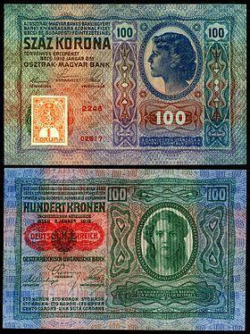 Banknotes of the Czechoslovak koruna (1919)