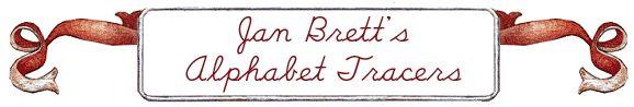 Jan Brett Alphabet Tracers