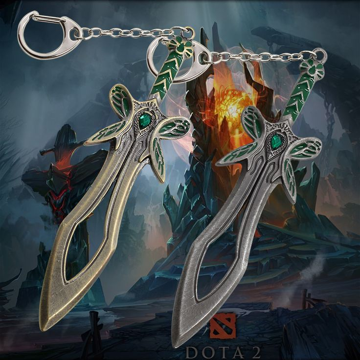 Fashion New Anime Keychain DOTA2 Game Equipment Butterfly Sword Weapon Turret Union Key Rings llaveros Wholesale Free Shipping