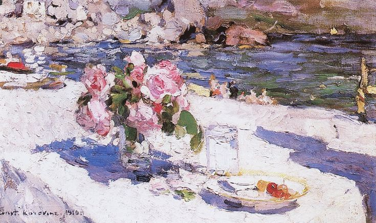By the sea. 1910  Russian painter Konstantin Korovin
