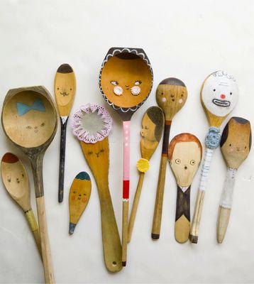 cute little spoon people.