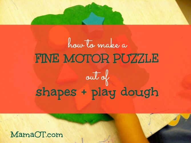 How to Make a Fine Motor Puzzle Out of Shapes and Play Dough