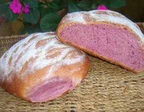 come-se: Pão de batata-doce roxa