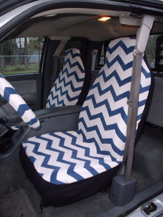 1 set of blue and white chevron print car seat by chailinsews just pure funny. Black Bedroom Furniture Sets. Home Design Ideas