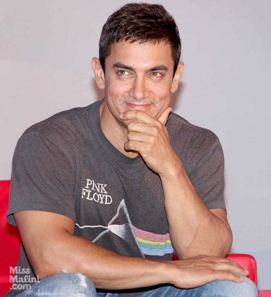 How adorable does Aamir Khan look here? The actor stepped...