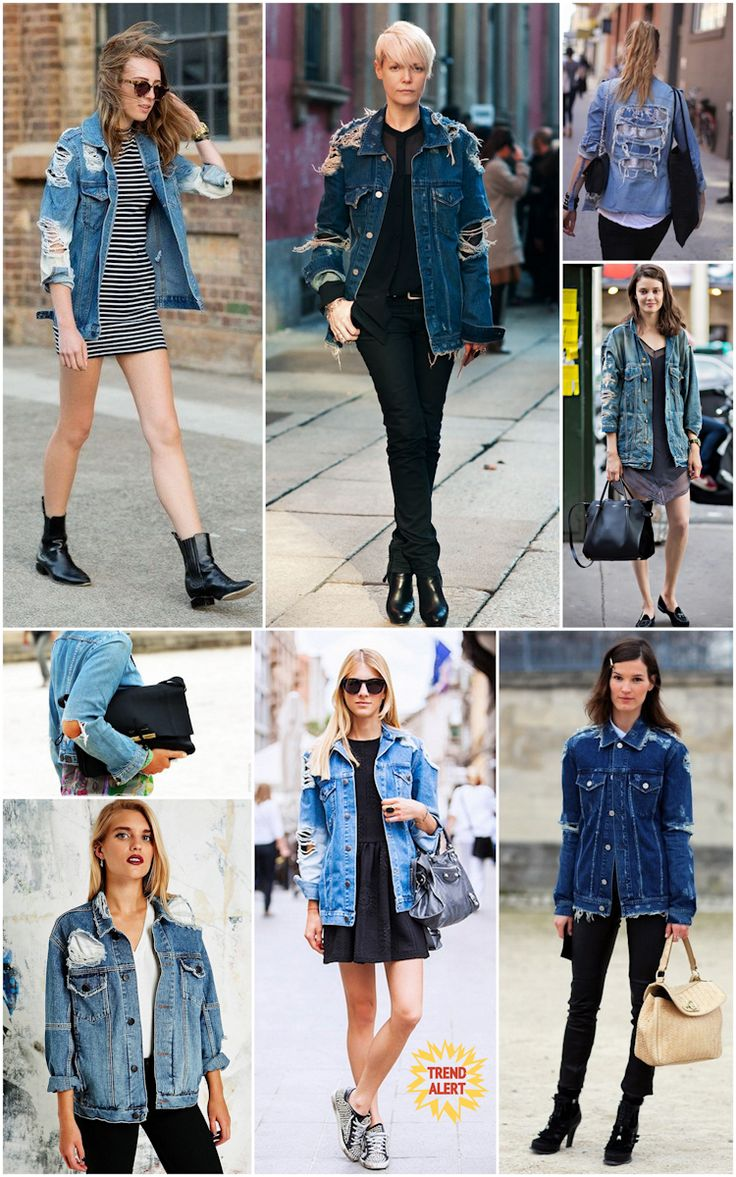 Jaqueta Jeans Destroyed Moda Fashion Estilo Trend