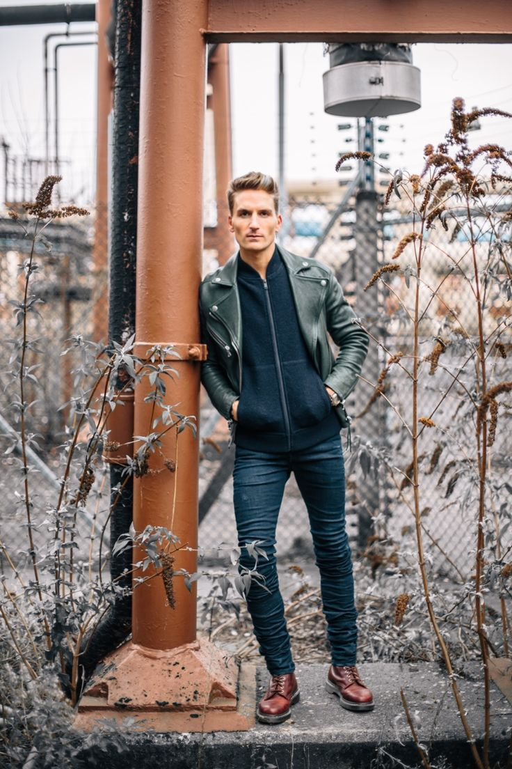 proudlockstyle:     Jacket - Replay   Jumper - Whistles   Jeans - Diesel Black Gold   Shoes - Dr Martens   >