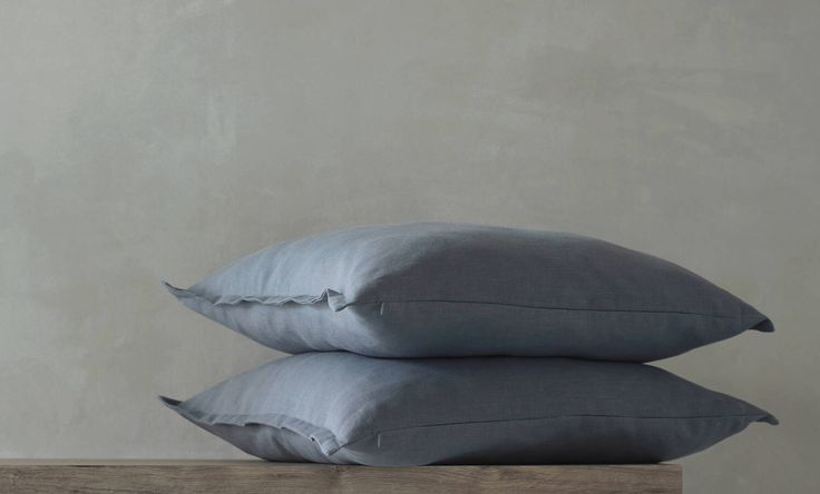 Two linen euro shams 26x26 inches - greyish blue pillow covers - by Linenspace  | 0096 by LinenSpace on Etsy https://www.etsy.com/listing/519889089/two-linen-euro-shams-26x26-inches