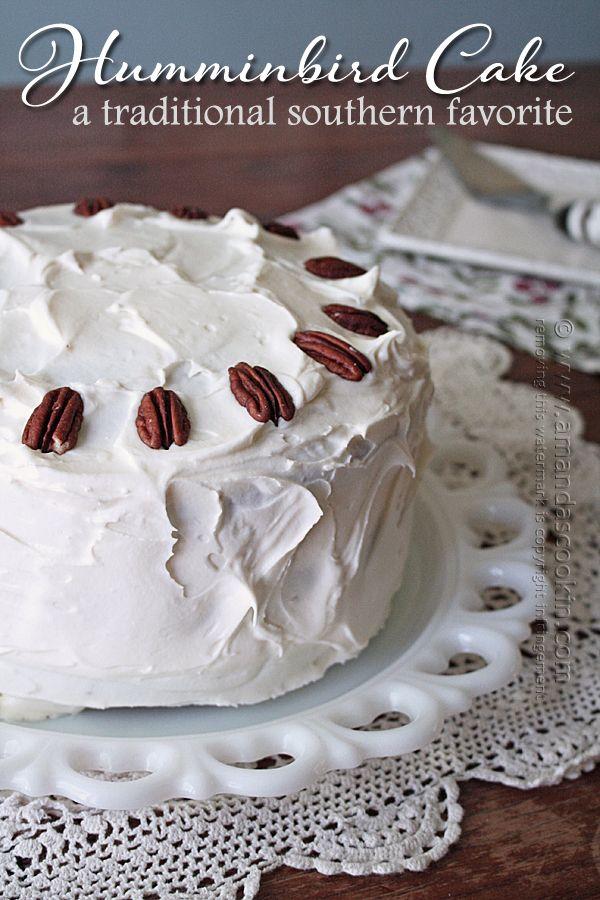 Recipe for Hummingbird Cake on Amanda's Cookin'