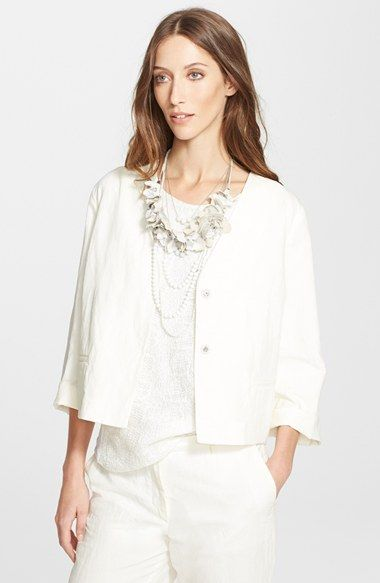 Fabiana Filippi Linen Blend Jacket available at #Nordstrom