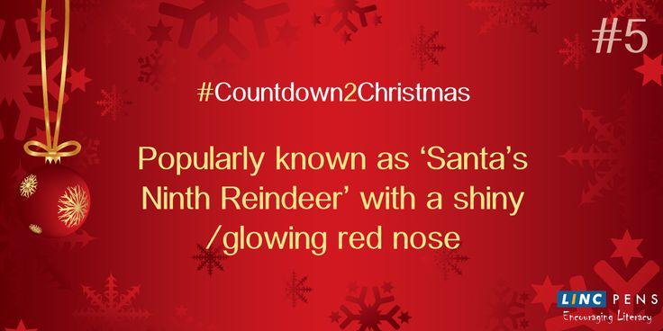 #Countdown2Christmas #ShinyRedNose #Reindeer