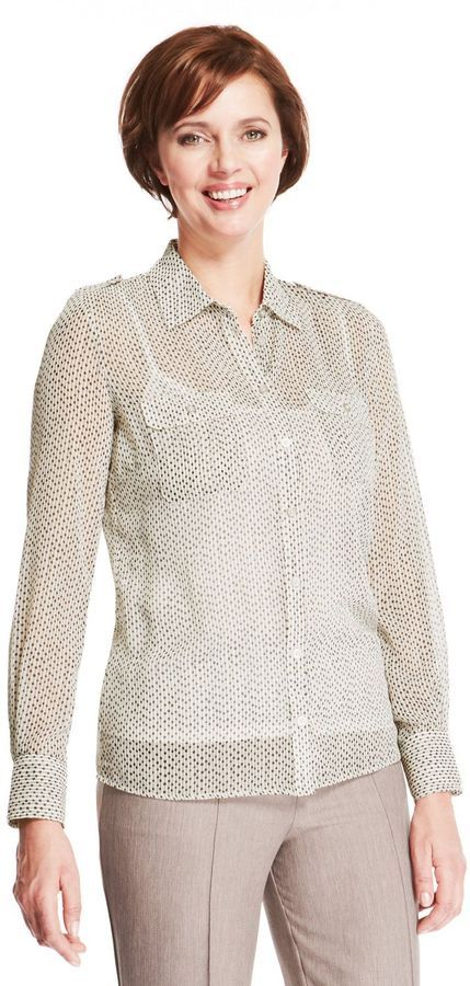 Marks and Spencer Classic – Gepunktete Bluse mit Camisole auf shopstyle.de