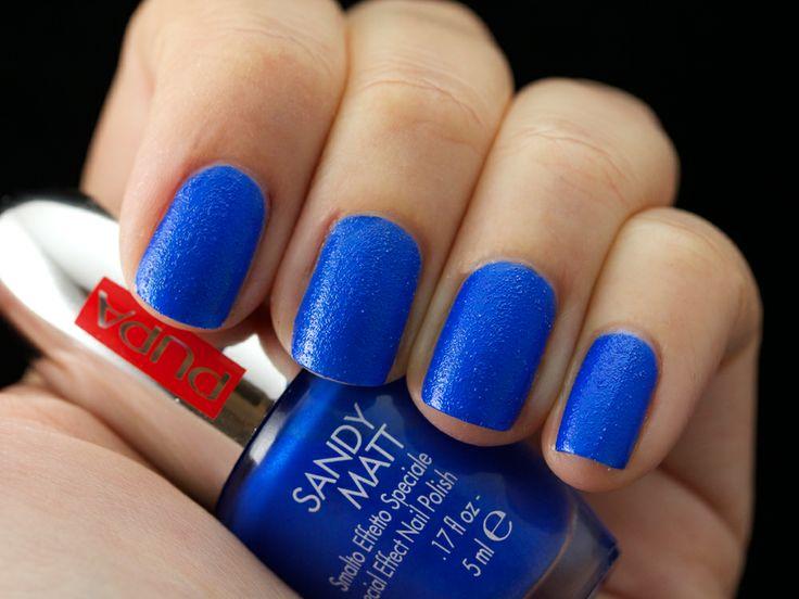 001 #SandyMatt Blue   Tutte pazze per l'opaco?  Vi anticipiamo un'altra novità #nails per la #primavera 2014.  Un'innovativa texture con microparticelle effetto granelli di sabbia colorati!  Vi presentiamo i 6 nuovi colori attraverso gli #swatches di Astasia di TrendyNail.  #anteprima #smalti #nailart #preview #lastingcolor Presto in profumeria!