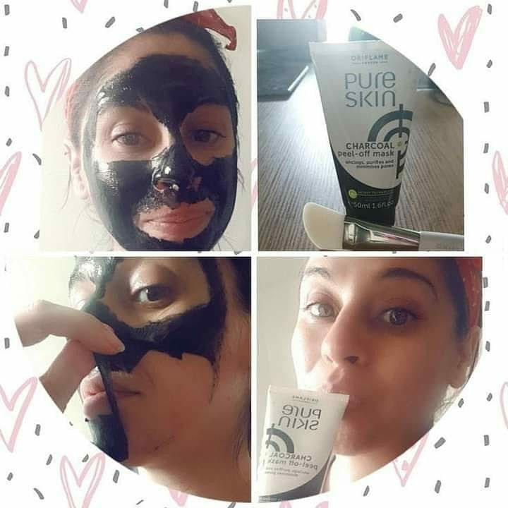 Pure Skin Black Head Mask Oriflame Beauty Products Natural Face Treatment Charcoal Peel Off Mask